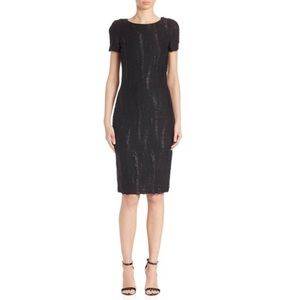 St. John Black Collection Boucle Knit Sheath Dress